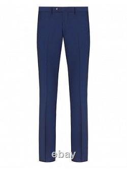 $1150NWT DUCHAMP LONDON navy peak lapel Heavy Mohair Wool 3 piece suit 42 eu52 R