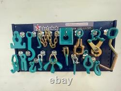 16 Piece Heavy Duty Auto Body Frame Machine Clamps Set And Pulling Tools