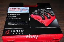 17 Piece 3/4 Drive 6 Point SAE Heavy Duty Impact Socket Set Sunex 4683