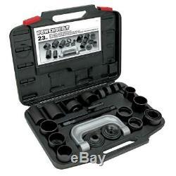 23 Piece Powerbuilt Ball Joint Storage Case Service Kit Wheel Drive Heavy Duty