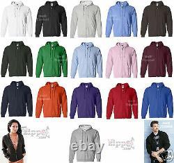 24 Gildan Heavy Blend Full Zip Hooded Sweatshirt Hoodie 18600 S-XL Wholesale