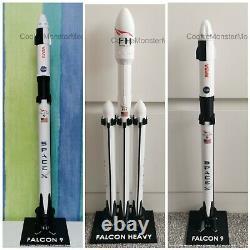 3 PIECE SET Spacex Falcon 9 heavy, Falcon 9 Crew Dragon Capsule and Falcon