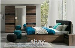 3 piece Bedroom set Wardrobe, bed with storage and side table