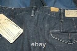 $398 Polo Ralph Lauren RRL Men Patchwork Patch Heavy Jeans Pants Navy Blue 31/34