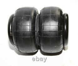 4 Pieces COMBO Heavy Duty 2500lb 1/2NPT Double Bellow Air Suspension Spring Bag