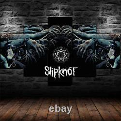 5 Pieces Home Decor Canvas Print Wall Art Abstract Slipknot Band Heavy Metal