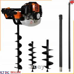 7 Piece Heavy-duty Auger Ground Drill Set Steel Post Hole Digger Earth Auger Bit