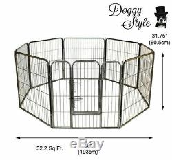8 Piece Heavy Duty Puppy Dog Play Pen Enclosure Welping Playpen Cage DS-HD01M