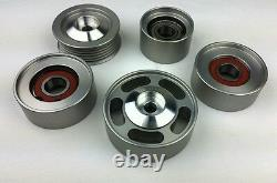 AMG E63/ C63 S63, SL63 Mercedes M156, 6.2L heavy duty 5 Piece idler Kit
