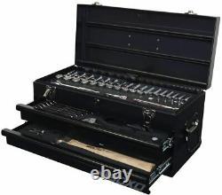BOXO USA Heavy Duty 113 Piece Metric Tool Set with 2 Drawer Hand Carry Tool Box