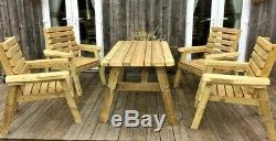 Best Wooden, 5 piece Patio Set. Heavy duty, outdoor, tanalised