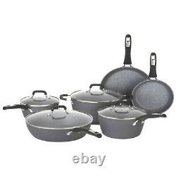 Bialetti 7559 Impact Nonstick Heavy Gauge Oven Safe 10 Piece Cookware Set, Gray