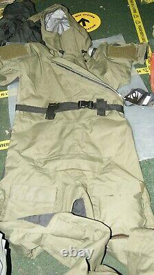 British Army Issue Typhoon Immersion Suit One Piece Size M Heavy Duty Goretex Nw