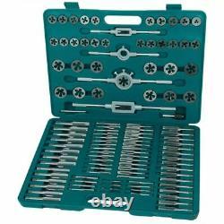 Brüder Mannesmann 110 Piece Tap and Die Set for Cutter Threads Heavy Duty 53255
