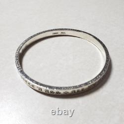 Chrome Hearts Piece'A Ass Bangle Bracelet / 925 Sterling Silver / Heavy