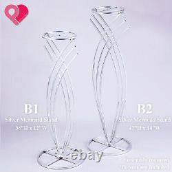 Cluster Candle Holder Acrylic Shade Wire Flower Centerpiece Stand Pillar Wedding