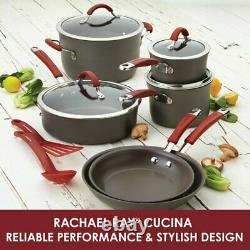 Cookware Set 12 Piece Hard-Anodized Aluminum Non Stick HEAVY DUTY Pots Pans