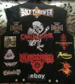 Custom Battle Jacket with Your Personal Patch Collection Heavy Metal Death Thrash