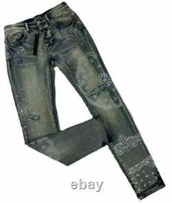 Distressed Bandana Heavy Quality Skinny Denim Jeans Amiri Hip-Hop Style MX SS21