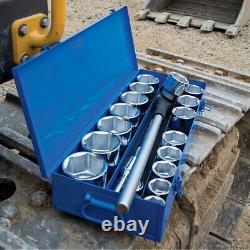 Draper 16485 22 Piece 1 SQ Drive Metric Socket Set In Metal Case Heavy Duty