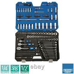 Draper 214 Piece Mechanics Tool Set ISO Certified Socket set all in one Heavy Du