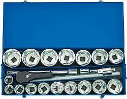 Draper Expert 22 Piece 1 Drive Metric Heavy duty Socket Set in steel case 16485