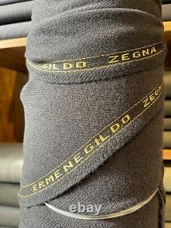 ERMENEGILDO ZEGNA FABRIC BLACK CASHMERE-WOOL FOR SOFT LUXURY COAT 2.5 m 470 $