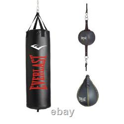 Everlast 3 Piece Set 100 Pound Heavy Bag, Speed Bag and Double End Bag