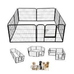 Extra Large Heavy Duty 8 Piece Puppy Dog Run Enclosure Pen Playpen 80x100cm XL