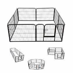 Extra Large Heavy Duty 8 Piece Puppy Dog Run Enclosure Welping Pen Playpen UKES