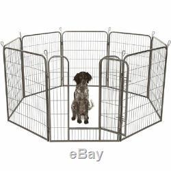 Extra Large Heavy Duty Whelping Pen 8 Piece Puppy Dog Run Enclosure Playpen