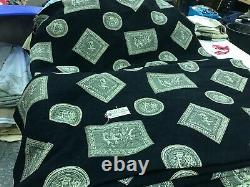 Fabric Furnishing Roman Chenile 140cm x 18m piece Black Upholstery