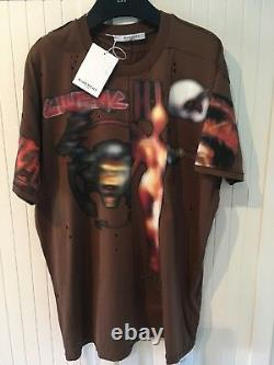 GIVENCHY T-shirt Distressed Pieced'Heavy Metal', S
