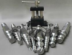 Heavy Duty Large Double Ended 8 Pieces Forming Stakes Set with Holding Vise