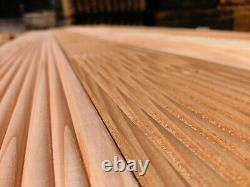 Heavy Duty Naturally Treated Larch Decking Board Softwood Timbers 28mm x 150mm