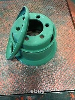 Heavy Duty Wheel for 10.00 R 15 Tire 6 Hole Budd Dual Style 2 Piece New 7.5-15