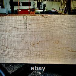 Heavy Flame Figured Eastern White Maple Body Billet 48x14.5 X 1.901 Piece