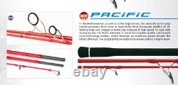 Heavy Spin travel rod 3 piece Rapture Pacific 7 ft 30lb line 100g lures Fuji