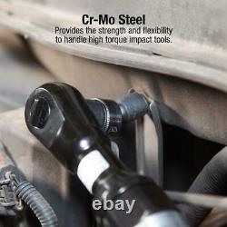 Impact Socket Set Drive Master Durable Heavy Duty Storage Case 80 Piece ANSI