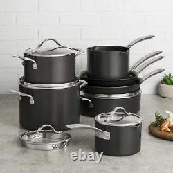 Kirkland Signature 12-piece Heavy Gauge Hard Anodized Cookware Set NEW