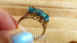 Kyanite Gold Ring 2.7ct heavy piece