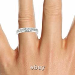 LAST PIECE 1CT Princess Diamond Channel Set Half Eternity Ring, Heavy White Gold