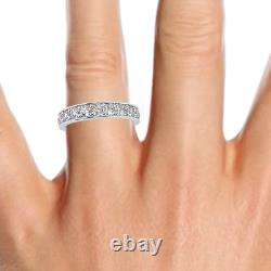 Last Piece 1.50 Ct Round Diamond Full Eternity Ring, Hallmarked Heavy White Gold