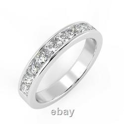 Last Piece! F/VS 0.70Ct Round Diamond Eternity Ring in Heavy 18k White Gold