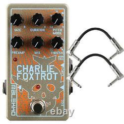 Malekko Heavy Industry Charlie Foxtrot Digital Buffer / Granular Pedal + Cables
