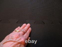 NEW 9 Piece 55 Square ANTI-FATIQUE Black BEVELED RUBBER Heavy Duty Floor MAT