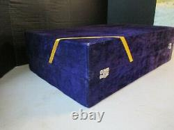 NEW Vintage Fancy Coffee & Tea Set with Tray 6 Piece Very Heavy Quality Hard Box