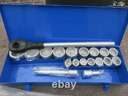 New, HEAVY DUTY Kobalt 20 Piece Mechanic's 3/4 Drive Socket and Ratchet Set