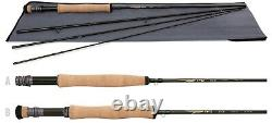 New Tfo Temple Fork Outfitters Bvk Tf07104b 10' #7 Weight 4 Piece Fly Rod +bag