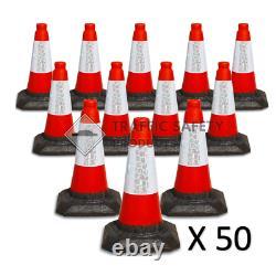PACK OF 50 Heavy Duty U. K Traffic Cones (1 PIECE 450mm)